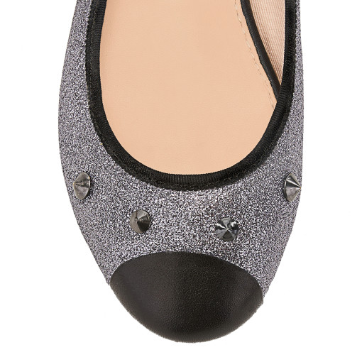 House of Ballerinas Maxine silver Toe cap